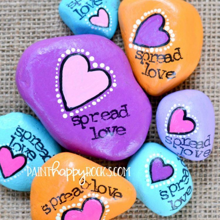 Spread Love! How to Make Painted Rocks at PaintHappyRocks.com #PaintHappy