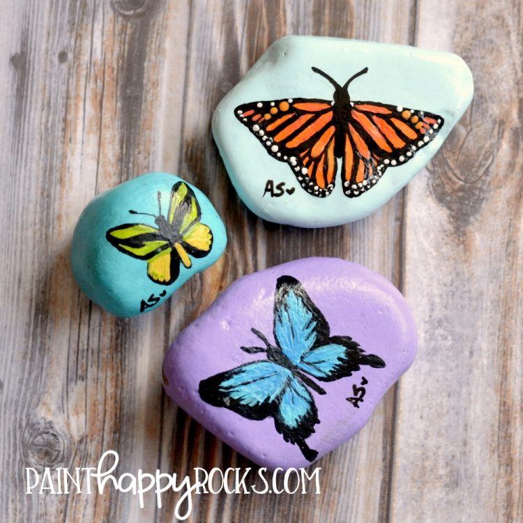 Rock Painting Ideas | Butterflies