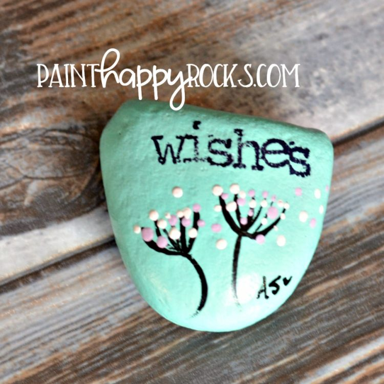 Easy Rock Painting Ideas | Dandelion Wishes