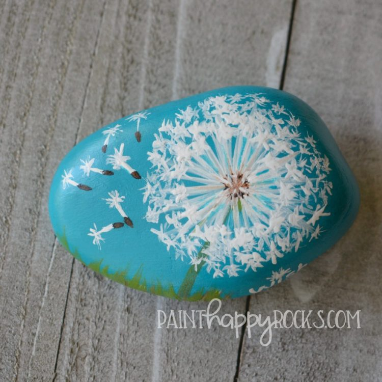 Craft Lightning | How To Paint a Dandelion Wish Rock